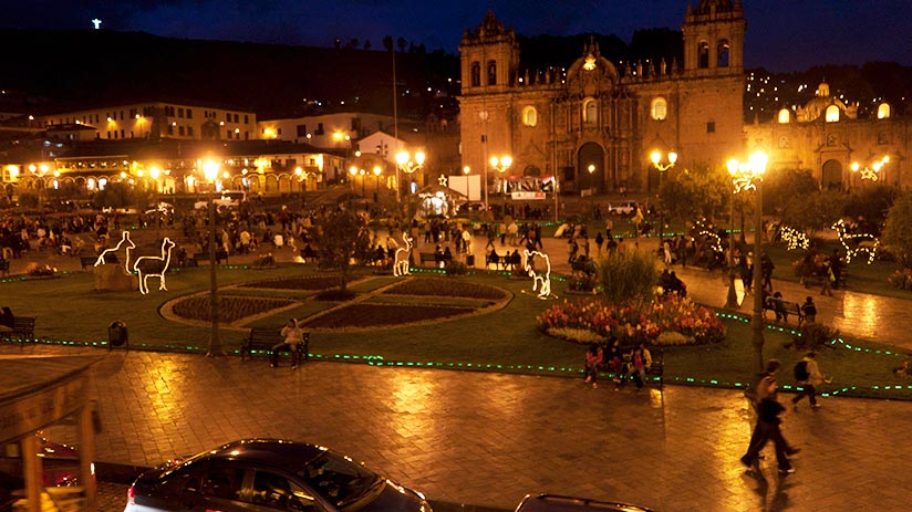 new year in plaza de armas
