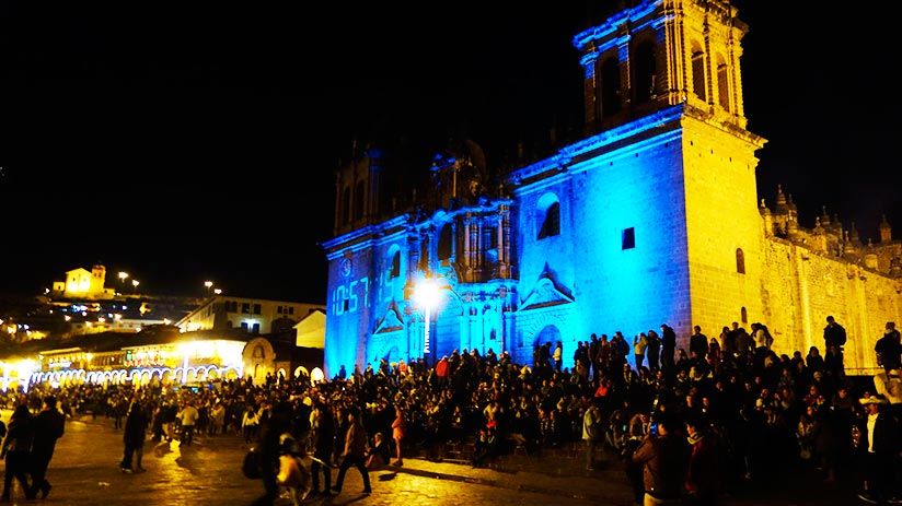 cusco new year in plaza de armas