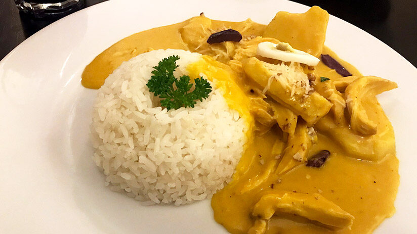 traditional peruvian food aji de gallina
