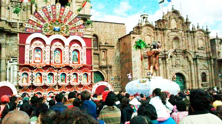 Corpus Christi celebration in Cusco