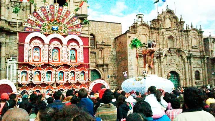 Corpus Christi celebration in Cusco