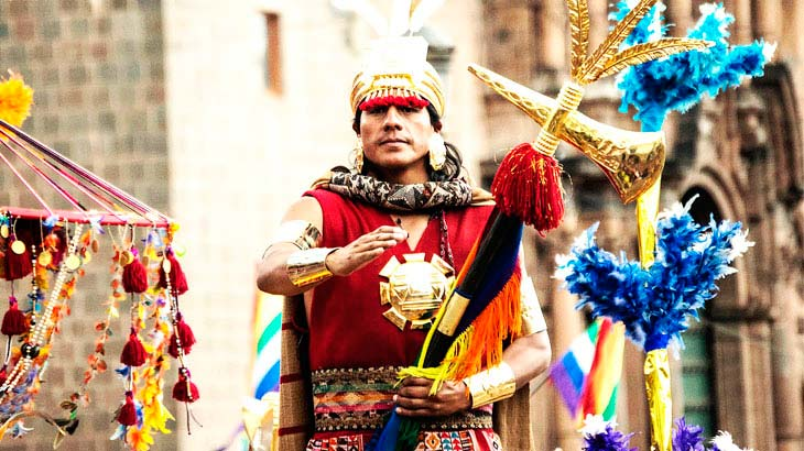 traditional atire at Inti Raymi celebration