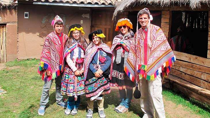 Happy family vacation in cusco and machu picchu