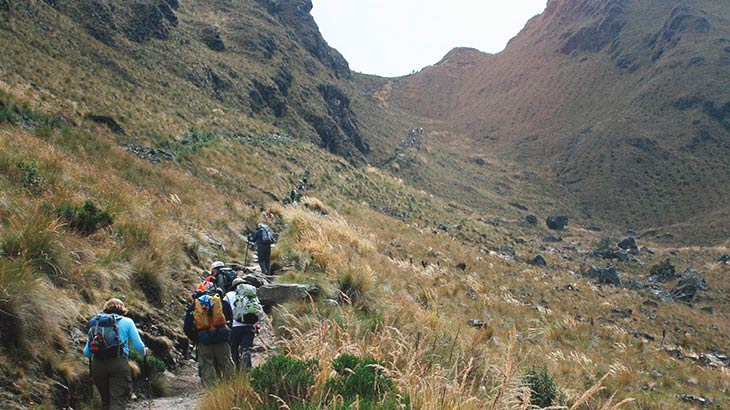 dead woman pass on inca trail