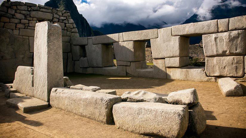 visiting machu picchu temple of the three windows