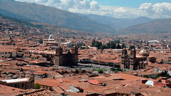 Amazing view of the city of Cusco