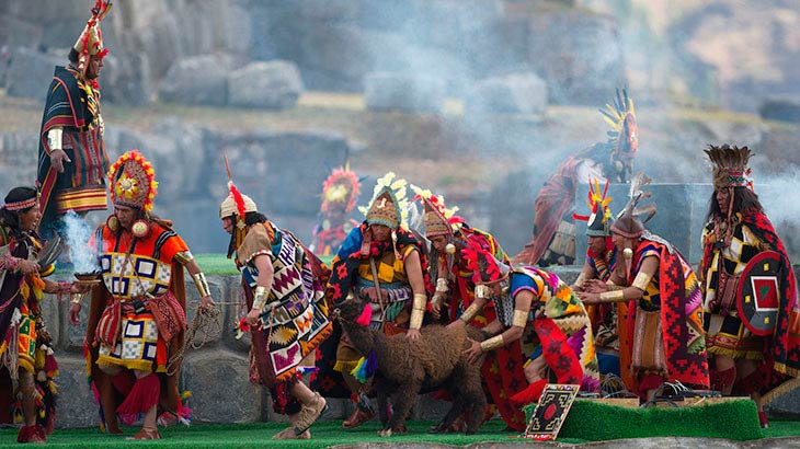 Feast of the Inti raymi, Sacrifice in honor of the Sun