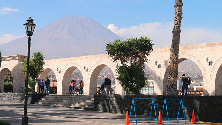 Yanahuara district located in Arequipa Peru