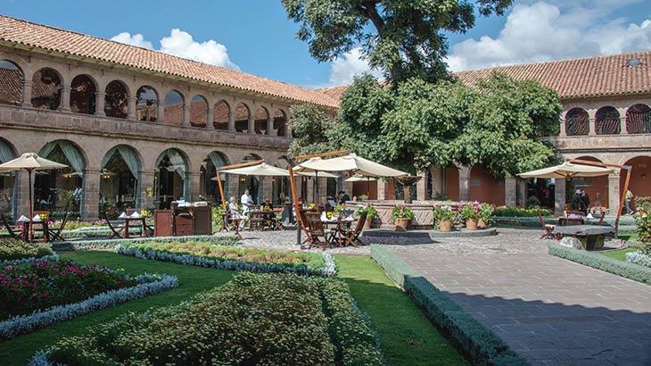 Belmond hotel monasterio main square in a peru trip