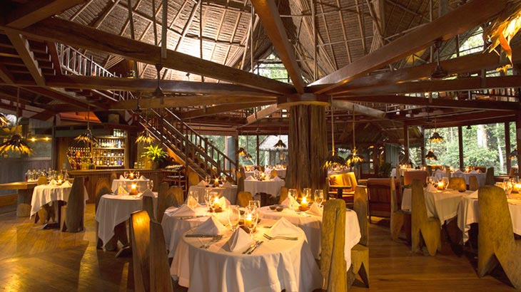 Inkaterra Reserva Amazonica dinning room in peru trip