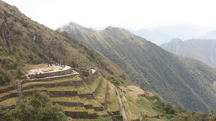 The Phuyupatamarca ruins on the inca trail