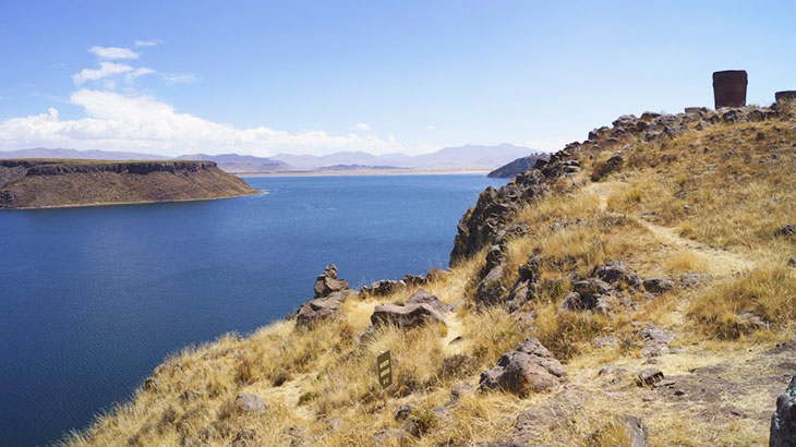 chullpas near to lake titicaca