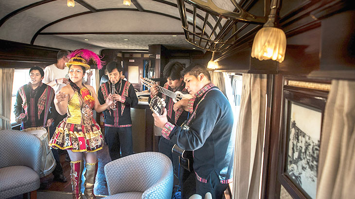 entertaiment in andean explorer train