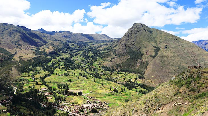 sacred valley mountain view