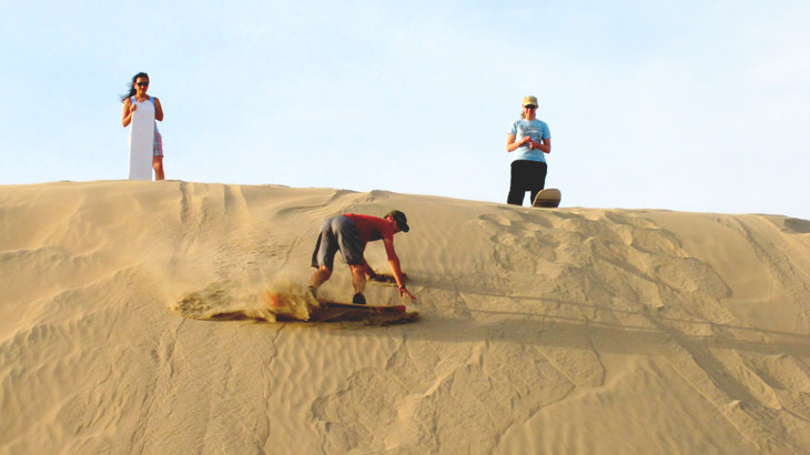 sand boarding huacachina oasis