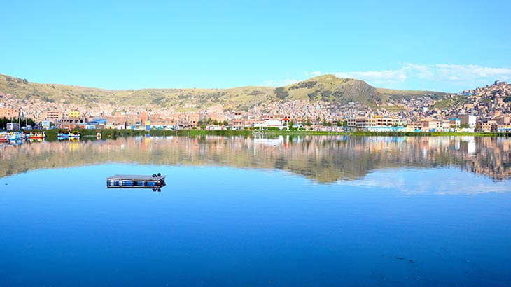 view puno from lake titicaca
