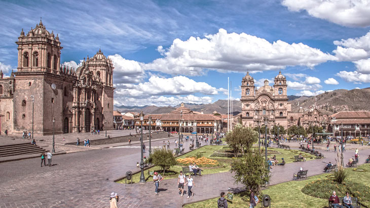 cusco main square full of history