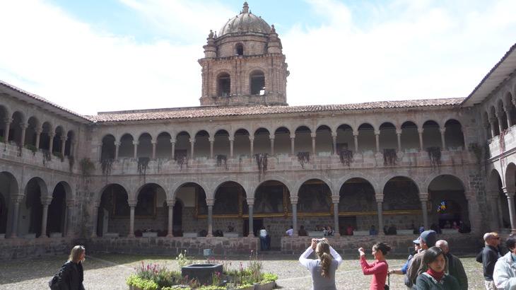 inside coricancha temple cusco city tou