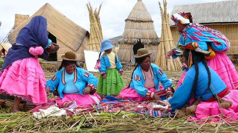 uros aymara language spoken in peru
