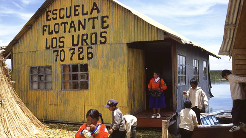 uros school in lake titicaca