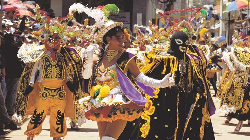 peruvian festival virgen candelaria in puno