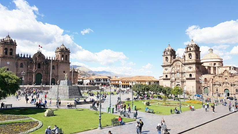 main quare cusco peru travel