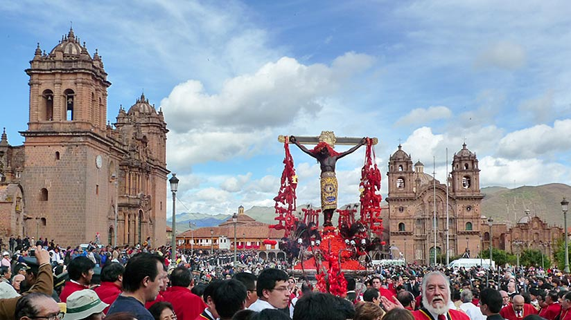 holy week in cusco lord tremors
