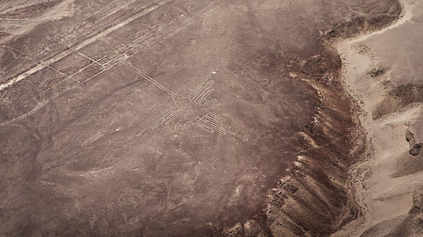 how were nazca lines hummingbird made