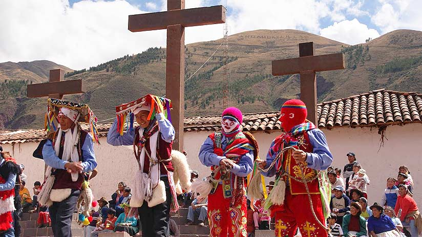 dance and festivity of cruz velacuy in cusco