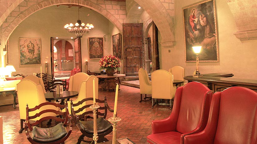 inside monasterio hotels in cusco peru