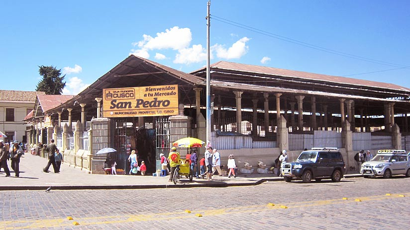 walking san pedro market cusco