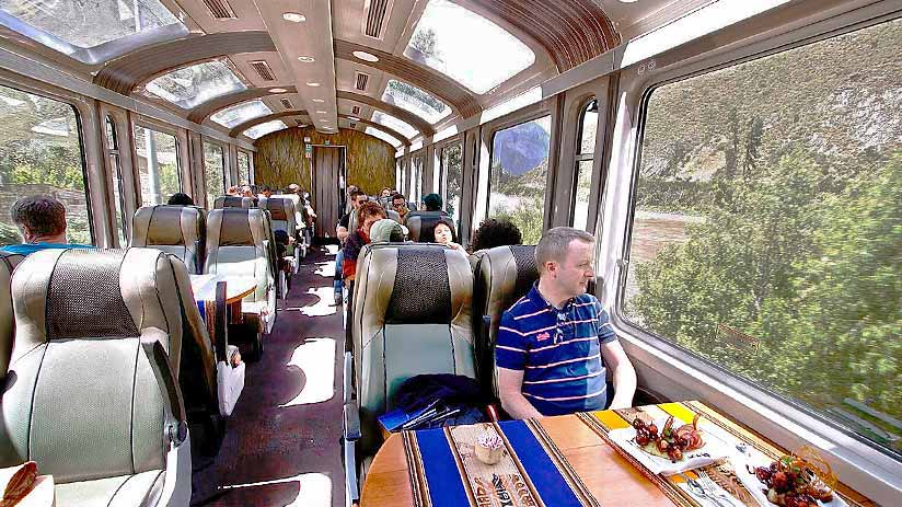 inca trail booking vistadome train