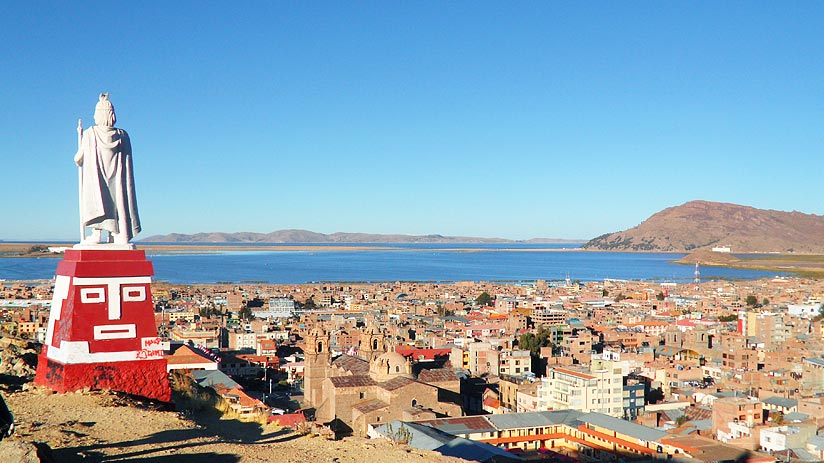 where is lake titicaca puno located