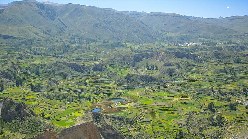 colca canyon peru tourist map