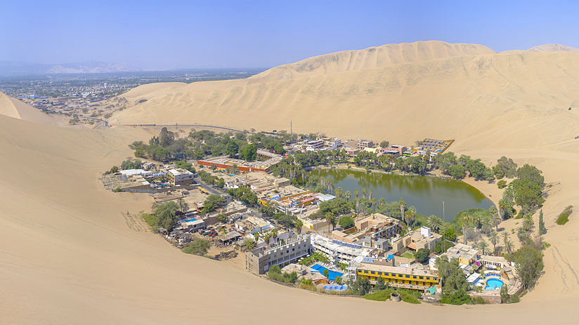huacachina peru tourist map