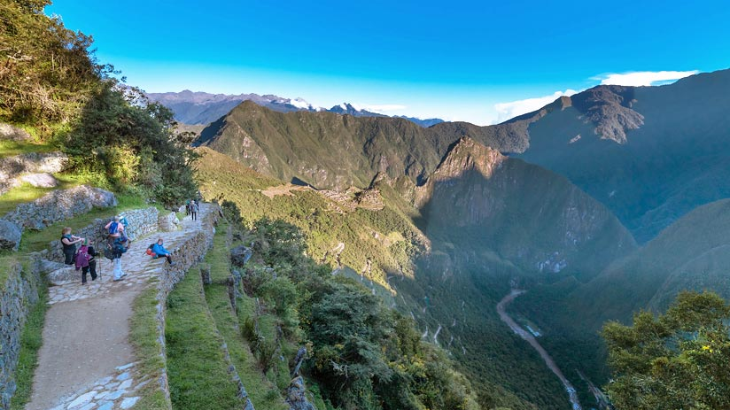inca trail map machu picchu
