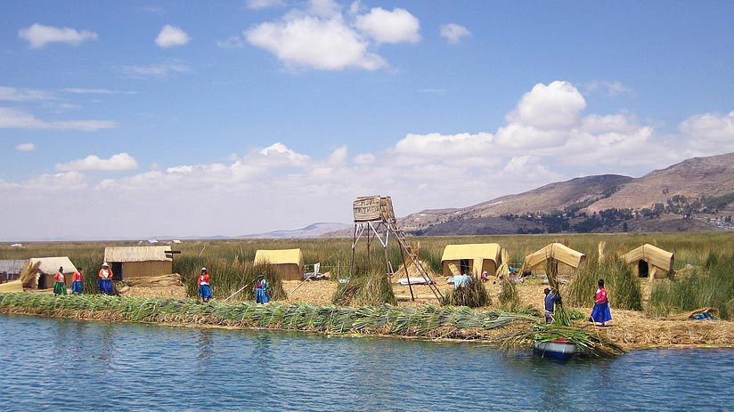 lake titicaca peru tourist map