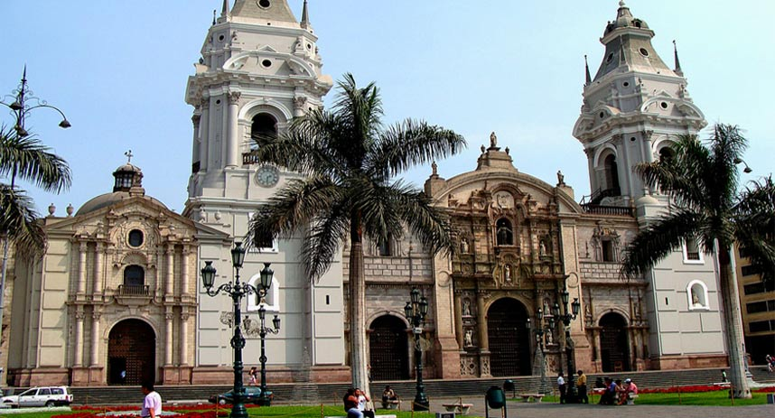 cathedral in the main square, tourist attractions in lima