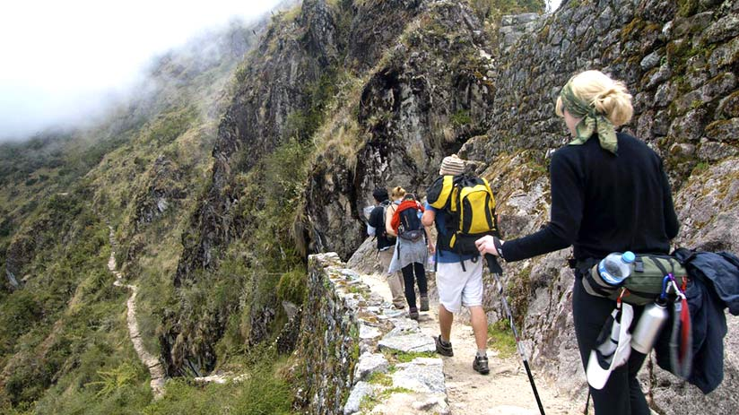 people going down, how long is the inca trail