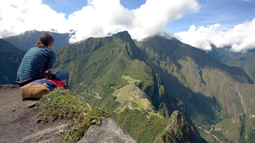 visiting machu picchu mountain