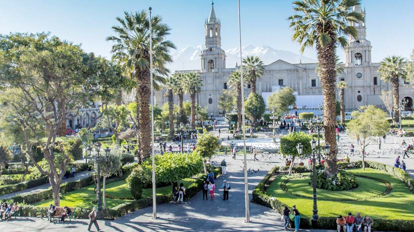 plaza of arequipa, peru holiday packages