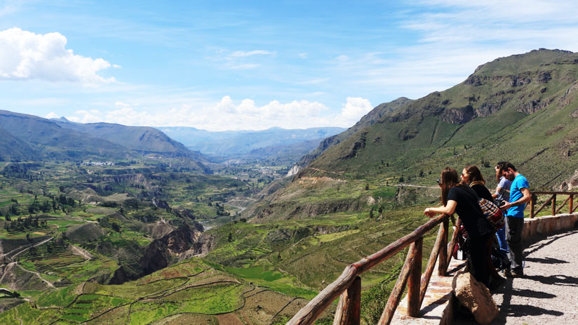 viewpoint of colca canyon, adventure holidays peru