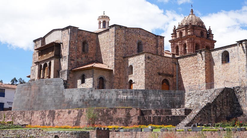 coricancha temple in cusco city, peru expeditions