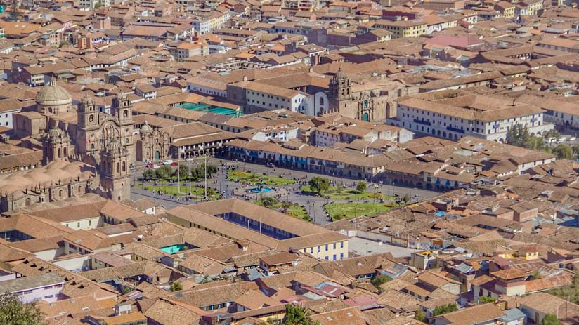 main square of cusco, machu picchu itinerary