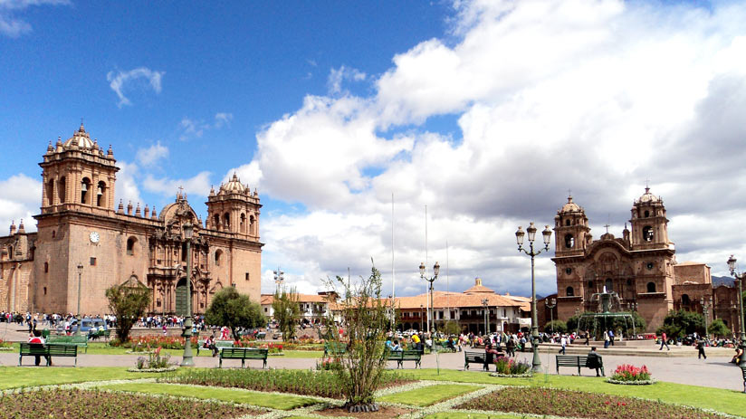 main square of cusco, popular tourist destinations in peru