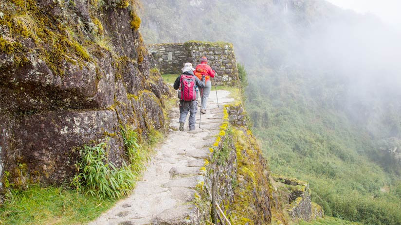 hike on inca trail, climbing machu picchu