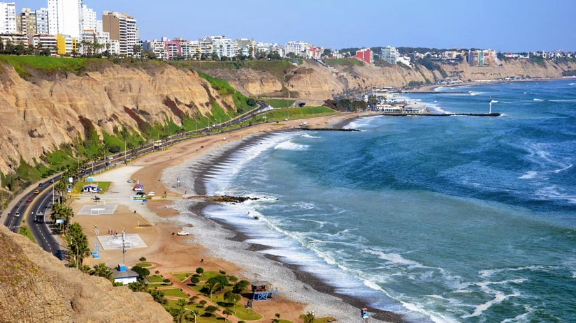 view of costa verde lima, traditional peruvian food