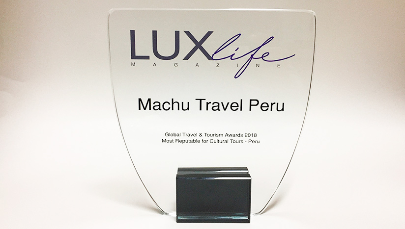lux life magazine travel awards trophy machu travel peru