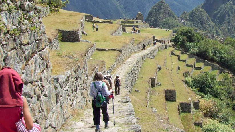 sun gate is finish part of inca trail, climbing machu picchu