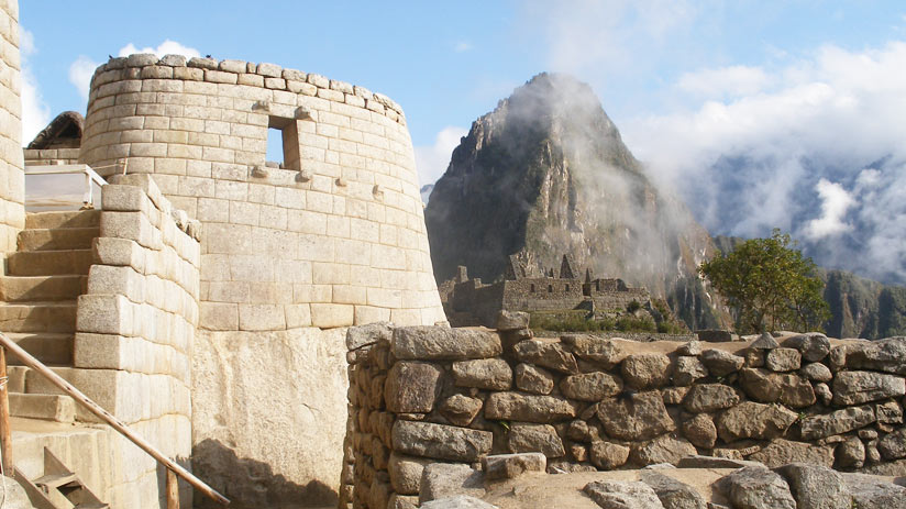 view of temple of the sun, machu picchu information